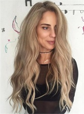 Long Body Wave Synthetic Hair Lace Front Wigs 28 Inches