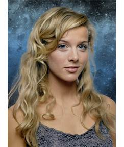 Long Wavy Attractive Synthetic Hair Lace Front Women Wigs 22 Inches