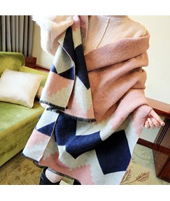 Geometric Pattern Cashmere Warmth Scarves