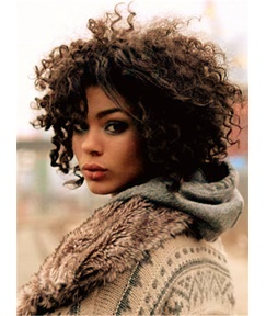 Winter Style Kinky Curly Wigs Synthetic Hair Lace Front Cap African American Women 12 Inches
