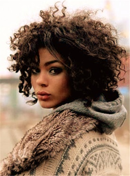Winter Style Kinky Curly Wigs Synthetic Hair Lace Front Cap African American Women Wigs12 Inches