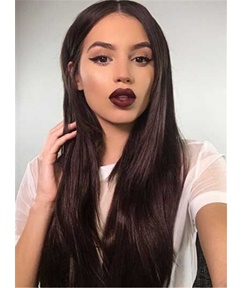 Soft Natural Top Quality Long Human Hair Lace Front Cap for African American Women Wigs 22 Inches