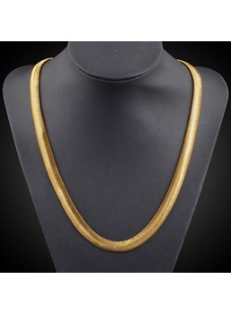 Alloy Golden Wild Men Necklace