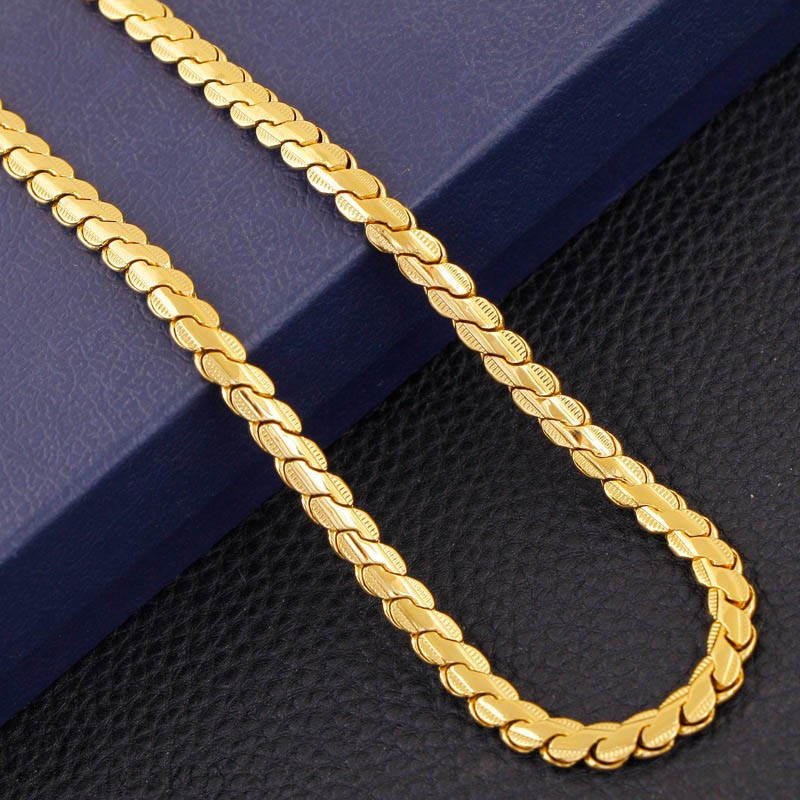 Alloy Golden Men Necklace