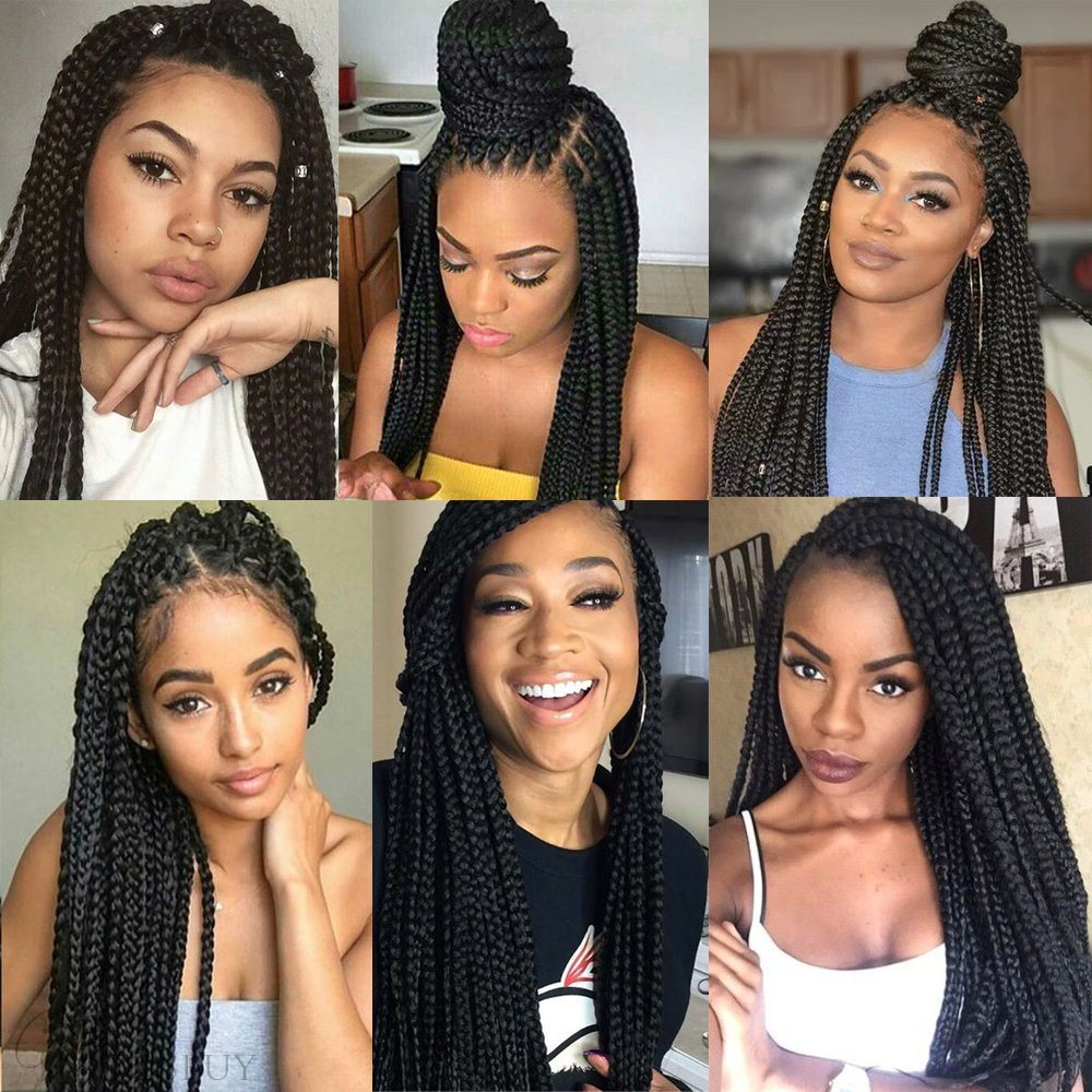 Afro Natural Black Twist Braid Curly Crochet Hair For Black Women 20 Inches