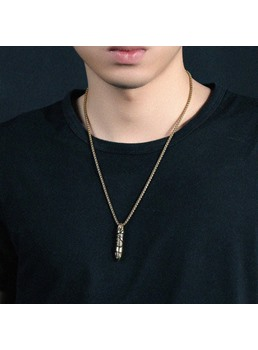 Alloy Bullet Men Necklace