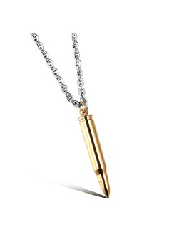 Bullet Silver Necklace