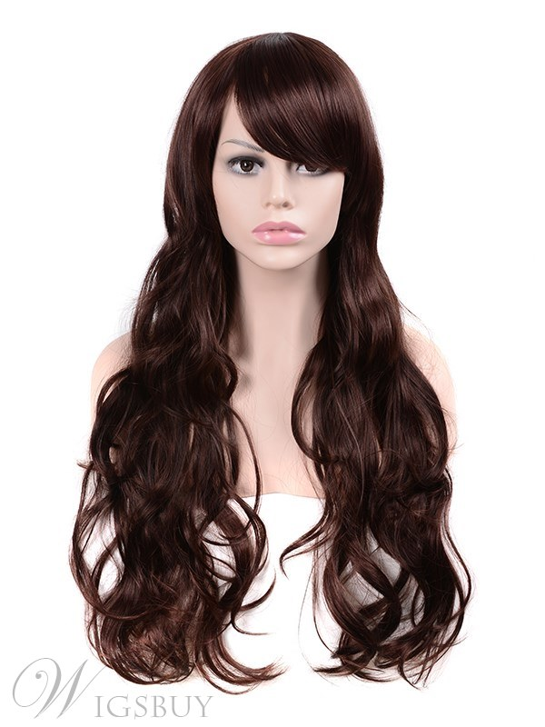 Long Wavy Synthetic Hair Women Capless Wig