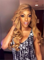 Porsha William Long Wave Side Fringe Synthetic Lace Front Wigs 22 Inches