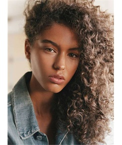 Fluffy Gorgerous Long Curly Synthetic Hair Lace Front Cap African American Women Wigs 22 Inches