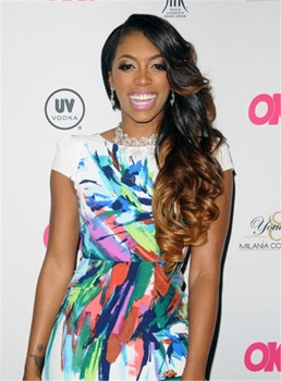 Porsha William Human Hair Lace Front Long Wigs 24 Inches