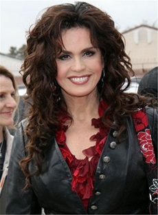 Marie Osmond Long Wave Lace Front Synthetic Wigs 22 Inches