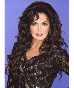 Marie Osmond Long Body Wave Lace Front Human Hair Wigs 24 Inches