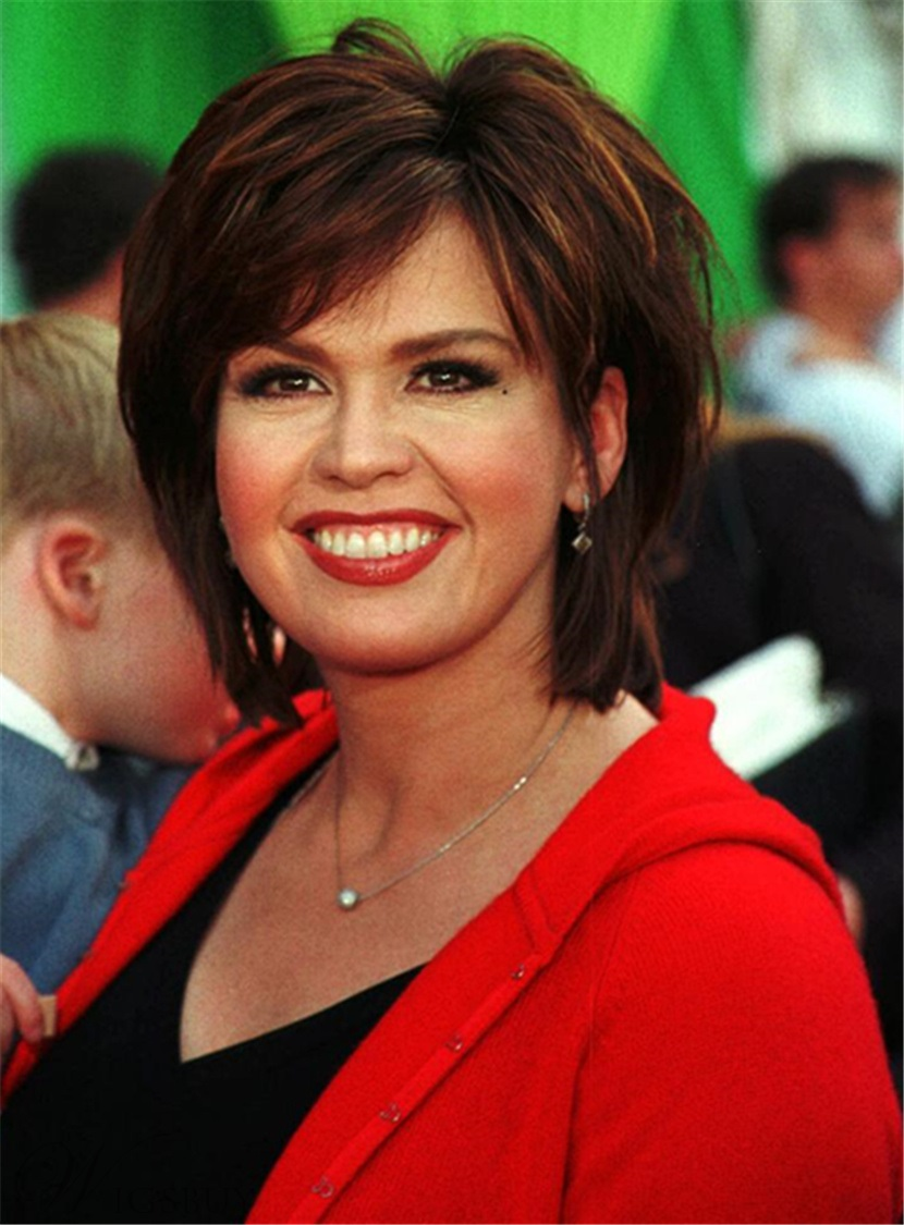 marie osmond short straight layered capless synthetic wigs