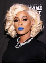 Keyshia Kaoir Short Wave Synthetic Capless Side Parting Wigs 10 Inches
