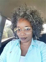 Synthetic Kinky Curly Salt And Pepper Hair Lace Front Wig 14 Inches