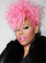 Keyshia Kaoir Short Curly Pixies Hairstyle Synthetic Capless Wigs