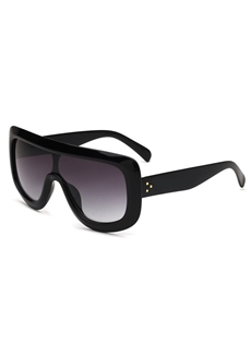 Big Frame One-Piece Sunglasses