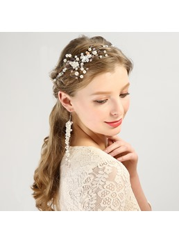 Pearl Hair Accessories Earrings For Wedding