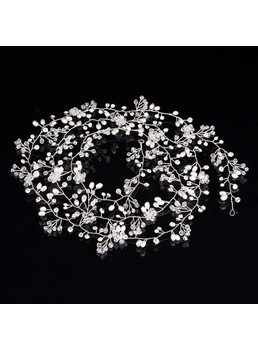 Rhinestone Pearl Flexional Band Wedding Hair Accessories