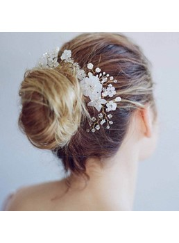 Handmade Floral Tuck Comb Wedding Hair Accessories