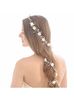 Handcraft Pearl Lengthened Band Wedding Hair Accessories