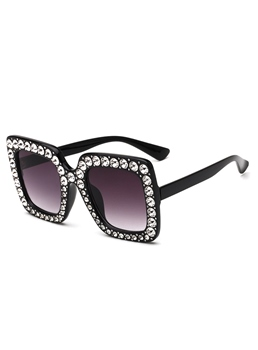 Bling Bling Diamante Broad Frame Sunglasses