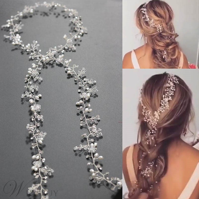 accessori per capelli da sposa in strass flexional band