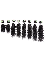 Jerry Curl Weave Sew in Hair Extensions Curly Human Hair Blend Weave for Women 8pcs/pack