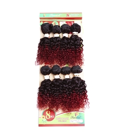 Human Hair Blend 8 Inches 8 PCS Hair Weave Extension