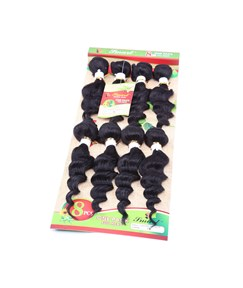 8PCS Human Hair Blend Curly Hair Extension 1B Color