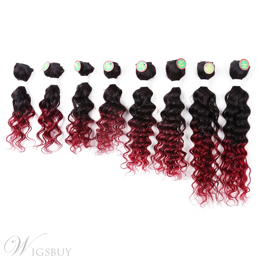 1B/Bug Human Hair Blend Curly Hair Weave