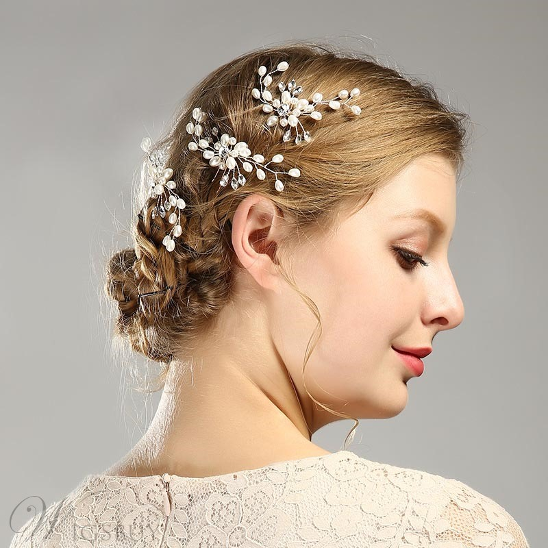 Charming Pearl Hairpin Wedding Hair Accessories
