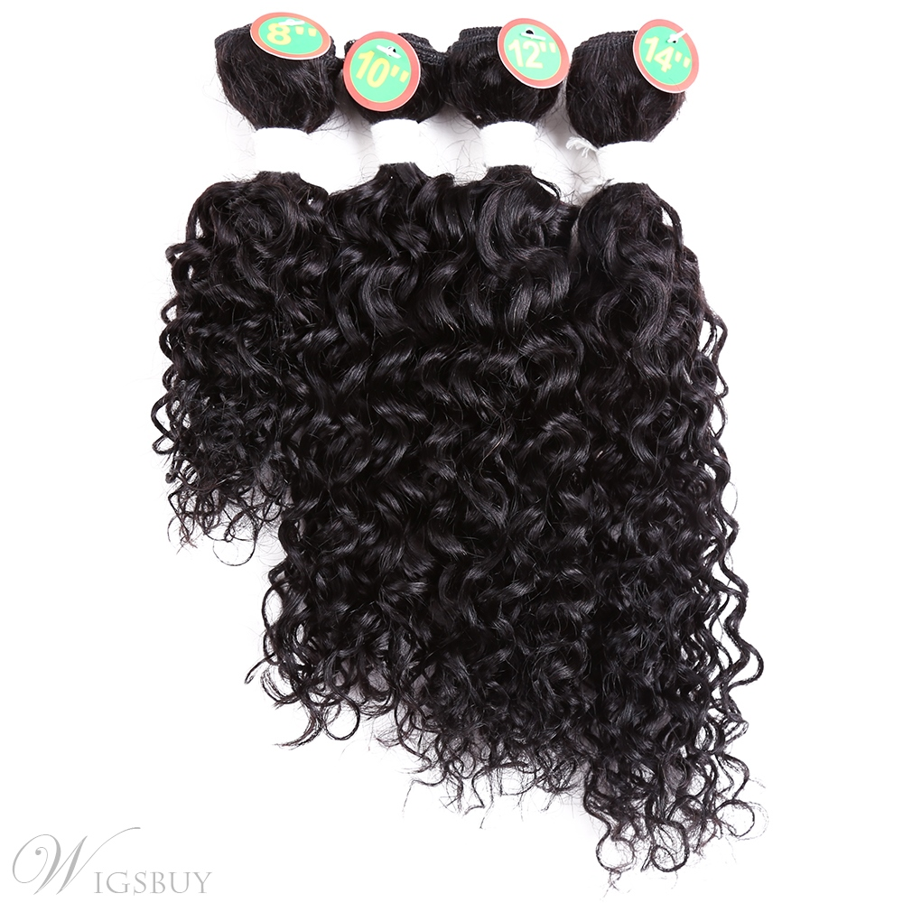 Jerry Curl Weave Sew In Hair Extensions Curly Human Hair Blend Weave