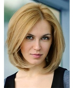 Short Straight Invert Bob Human Hair Full Lace Wigs 8 Inches