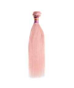 Pink Hair Extension Straigth Human Hair Weave