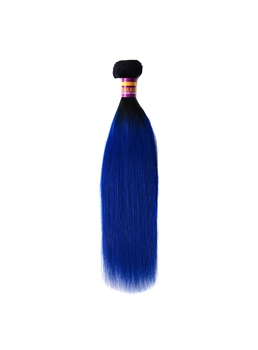 Blue Color Human Hair Weave Hair Extension Straight