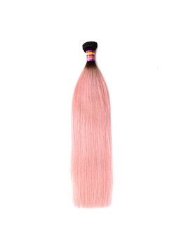 Omber Pink Human Hair Straight Wear Hair Extension