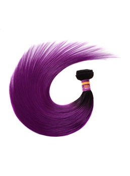 Human Hair Weave Straight Purple Color Hair Extension