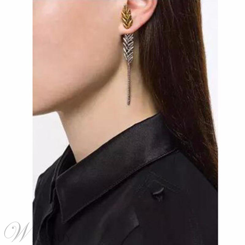 Golden Ears Of Wheat Pierced Earrings