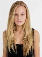 Long Straight Human Hair Free Style Fringe Full Lace Wigs 20 Inches