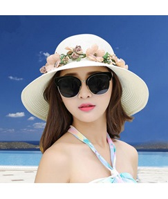 Wide Brim Casual Straw Hat