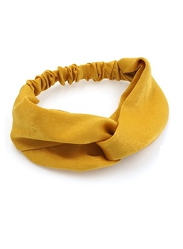 Pure Colour Satin Hairband For Women