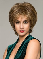 Wispy Bang Layered Cut Synthetic Capless Women Wigs