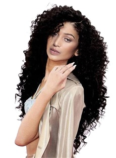 Long Kinky Curly African American Capless Synthetic Wigs
