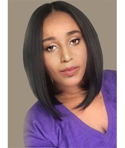 Shoulder Length Bob Style Synthetic Capless Wigs for Black Women