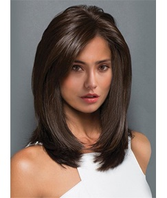 Middle Length Straight Blunt Cut Synthetic Capless Wigs 14 Inches