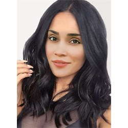 Black Women Center Parting Deep Wave Synthetic Capless Wigs