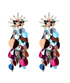 Multilayer Sequins Tassel Earrings