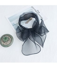 Simple Plain Organza Square Scarf